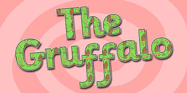 The Gruffalo Display Lettering - the gruffalo, display lettering, the gruffalo themed display lettering, the gruffalo display lettering