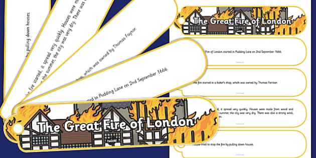 The Great Fire of London Facts Fan Book - great fire of london, facts, fan book