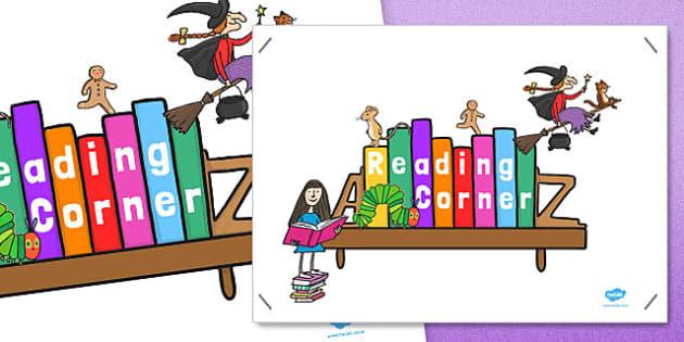 Reading Corner Display Poster - reading corner, reading corner poster, reading area display, reading display poster, display posters, reading, area