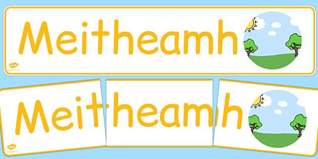 Meitheamh Display Banner Gaeilge - gaeilge, year, months of the year, june