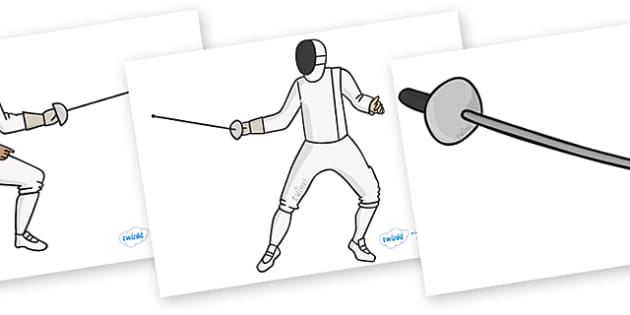The Olympics Editable Images Fencing - Fencing, Olympics, Olympic Games, sports, Olympic, London, images, editable, event, picture, 2012, activity, Olympic torch, medal, Olympic Rings, mascots, flame, compete, events, tennis, athlete, swimming