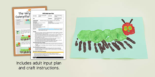 Handprint Craft EYFS Adult Input Plan and Resource Pack to Support Teaching on The Very Hungry Caterpillar