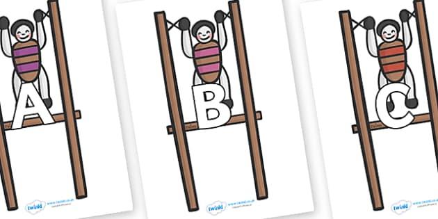 A-Z Alphabet on Toys - A-Z, A4, display, Alphabet frieze, Display letters, Letter posters, A-Z letters, Alphabet flashcards