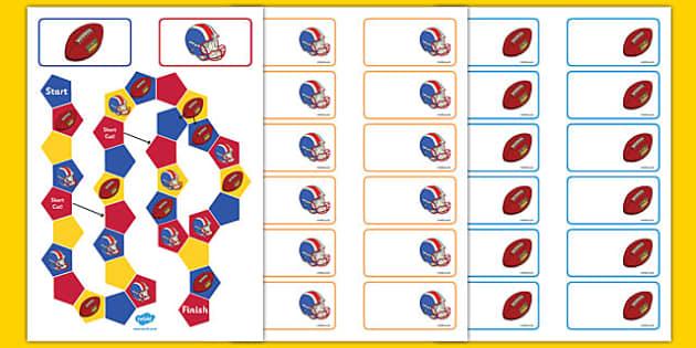 NFL Themed Editable Board Game - usa, nfl, national football league, american football, editable, board game