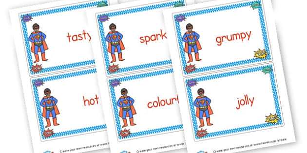 Superhero WOW Words - Wow Words & Adjectives Primary Resources, cll, wow, keywords
