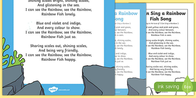 I Can Sing a Rainbow Fish Song to Support Teaching on The Rainbow Fish