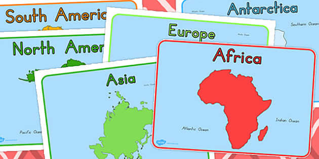 Continent And Ocean Editable Group Signs - australia, continent