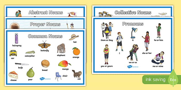 Noun Display Poster Pack - noun, display posters, display, posters, pack