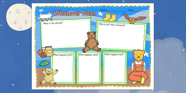 Book Review Writing Frame to Support Teaching on Whatever Next! - whatever next, book review, writing frame, book review writing frame, writing aid, writing template, writing