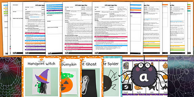 EYFS Halloween Adult Input Planning and Resource Pack - eyfs, halloween, adult input, plan, pack