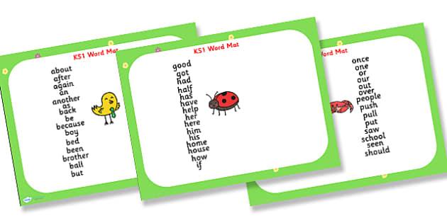 KS1 Word Mat PowerPoint - KS1, word mat, words, powerpoint, word mat powerpoint, KS1 powerpoint, KS1 words, KS1 literacy, literacy, literacy powerpoint