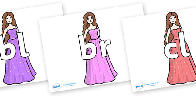 Initial Letter Blends on Dolls - Initial Letters, initial letter, letter blend, letter blends, consonant, consonants, digraph, trigraph, literacy, alphabet, letters, foundation stage literacy