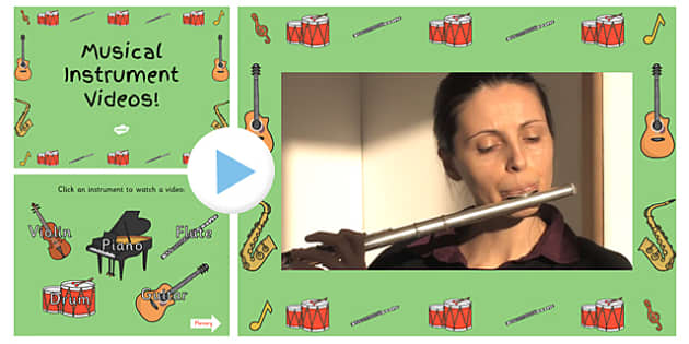 Musical Instrument Video PowerPoint-musical instrument, instrument, video powerpoint, powerpoint, music, sounds, sound powerpoint, noises