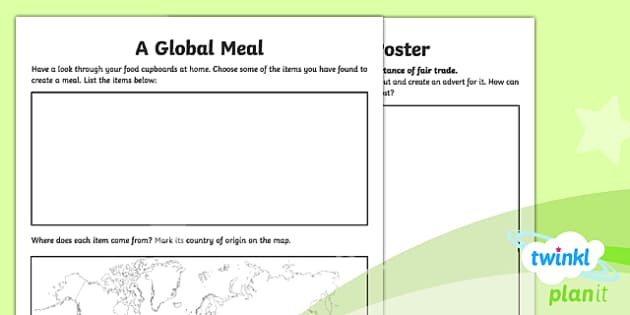 PlanIt - Geography Year 6 - Trade and Economics Home Learning Tasks