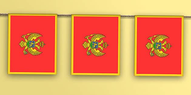 Montenegro Flag Bunting - montenegro flag, display bunting, display, bunting, montenegro, flag
