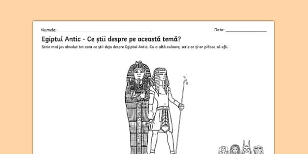 Egiptul Antic - Fișă de lucru