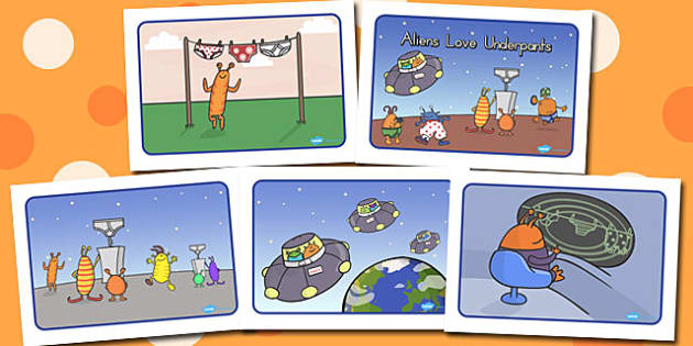 Story Sequencing A4 to Support Teaching on Aliens Love Underpants - australia, aliens, underpants