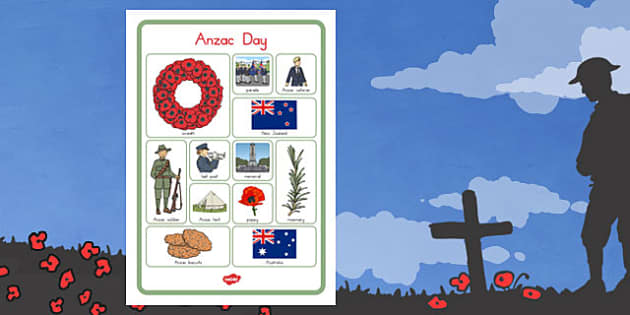 Anzac Day Vocab Poster - anzac day, anzac, vocabulary poster, war
