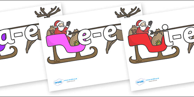 Modifying E Letters on Sleighs - Modifying E, letters, modify, Phase 5, Phase five, alternative spellings for phonemes, DfES letters and Sounds