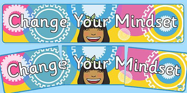 Change Your Mindset Display Banner - change your mindset, display banner, display