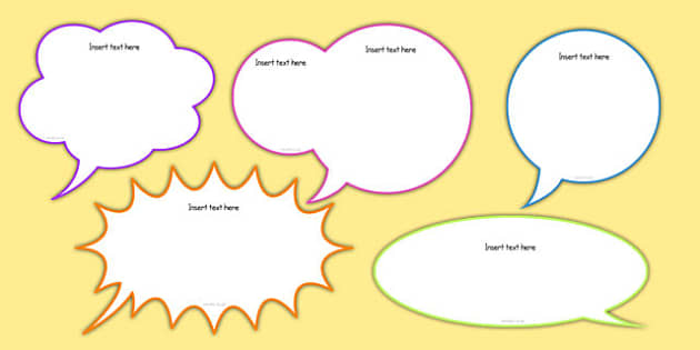 Editable Speech Bubbles Pack - editable, speech bubbles, pack, speech