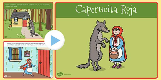 PowerPoint - La caperucita roja - cuentos, tradicionales, historias, lobo, bosque