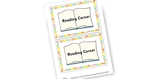 Reading Corner Signs - Reading Area Primary Resources, signs, area, zones, banner, poster