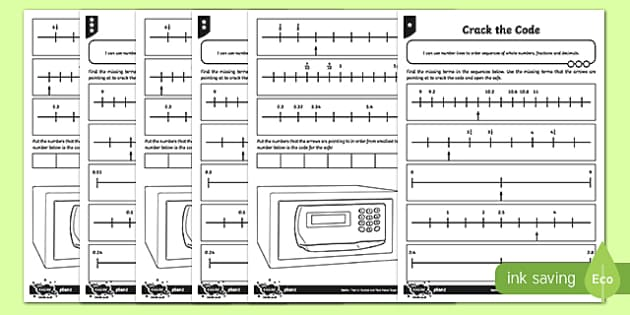 Crack the Code Activity Sheet, worksheet