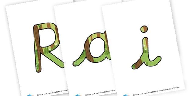 rainforest - display lettering - Jungle & Rainforest Display Primary Resources, Display, Rainforest