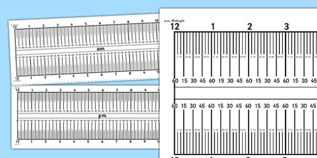 Elapsed 5 Minute Interval Time Ruler - elapsed, 5 minute, interval, time, ruler