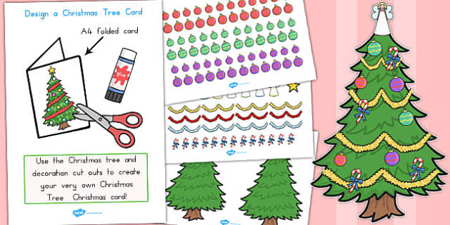 Design Your Own Christmas Tree Card - australia, christmas, card