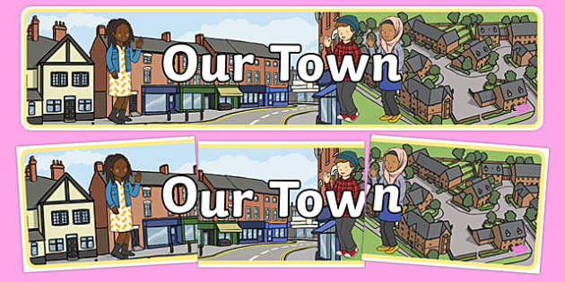 Our Town Display Banner - our town, display, banner, display banner, town, town banner, themed banner, themed header, headers, display header