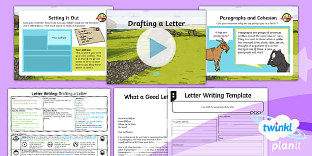 PlanIt Y4 Traditional Tales: The Three Billy Goats Gruff Lesson Pack Letter Writing (3)