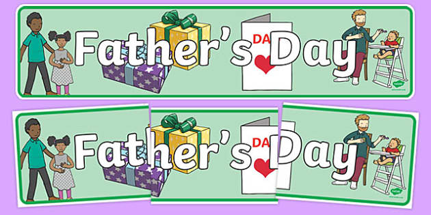 Father's Day Display Banner