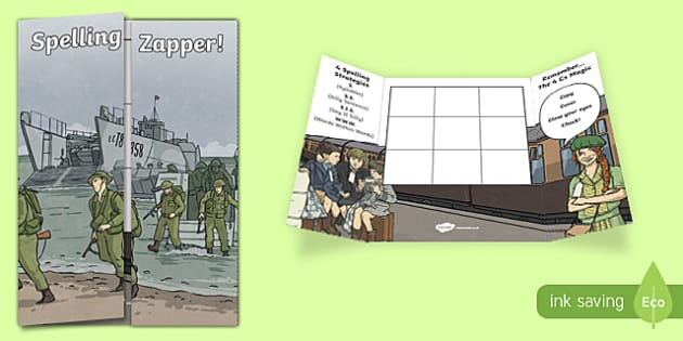 Second World War Themed Blank Spelling Zapper - spelling zapper, spell, spelling, zapper, dyslexic, dyslexia, learn, tricky words, personalise, words, blank, second world war, ww2