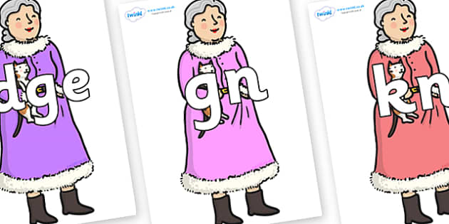Silent Letters on Mrs Clause to Support Teaching on The Jolly Christmas Postman - Silent Letters, silent letter, letter blend, consonant, consonants, digraph, trigraph, A-Z letters, literacy, alphabet, letters, alternative sounds