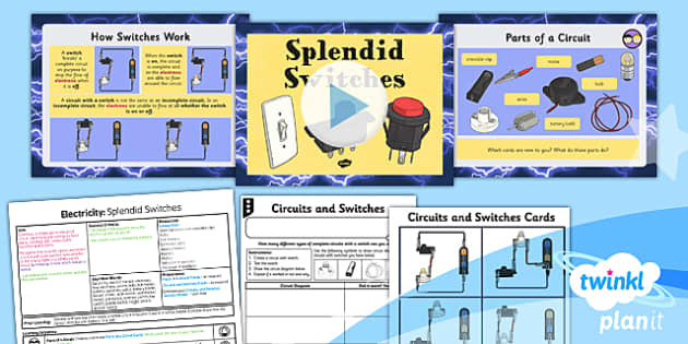 PlanIt - Science Year 4 - Electricity Lesson 5: Splendid Switches Lesson Pack - planit, science, year 4, electricity