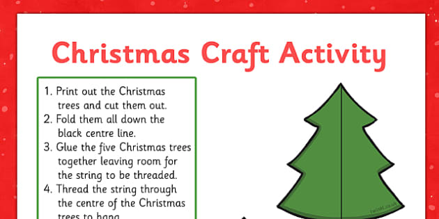 Christmas Tree Decoration Paper Craft Activity - christmas, tree, decoration, paper, craft, activity
