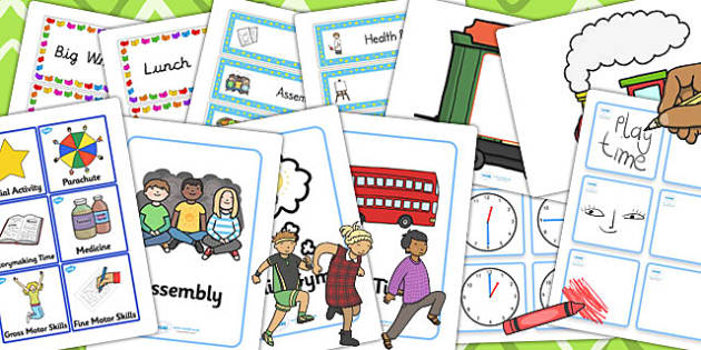 KS1 Visual Timetable Resource Pack - ks1, visual, timetable, pack