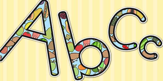 Healthy Eating Display Lettering - health, healthy, food, display