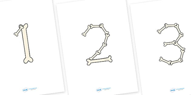 Bone Display Numbers - Bone Display Numbers, Display numbers, numbers, display numerals, display lettering, display numbers, display, cut out lettering, lettering for display, display numbers