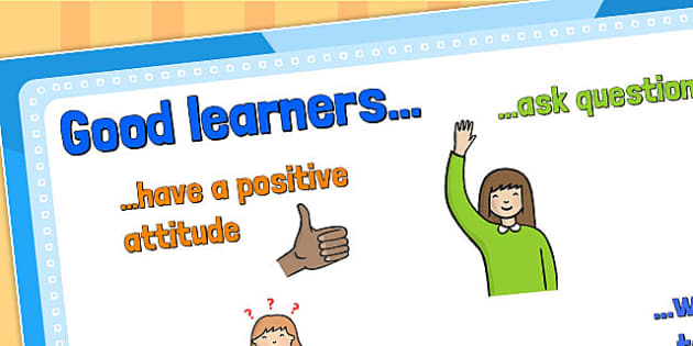 Large Good Learners Poster KS1 - posters, ks1, good learners, a4