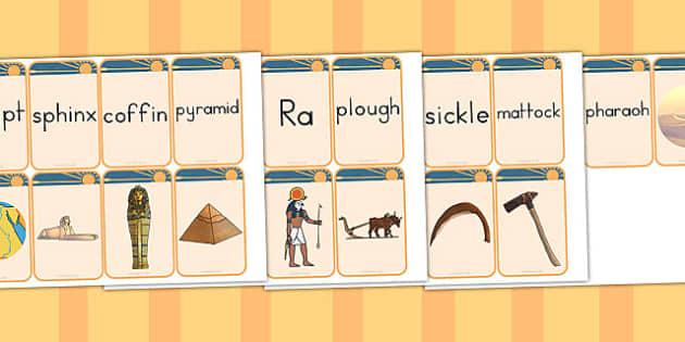 Ancient Egypt Matching Flashcards - australia, flashcards, egypt