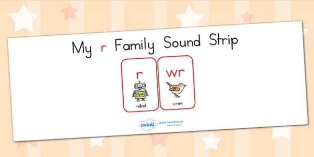 My R Family Sound Strip - sound family, visual aid, literacy