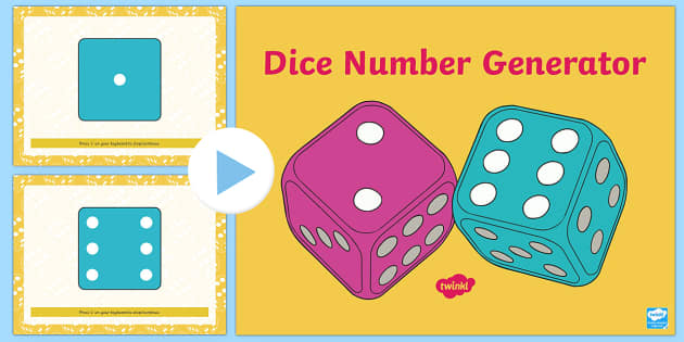 Rolling Dice Number Generator PowerPoint