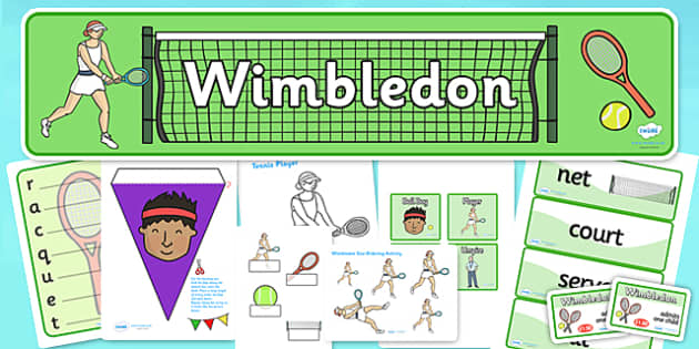 Wimbledon Role Play Pack - wimbledon, wimbledon role play, wimbledon pack, wimbledon tournament role play, tennis role play, sports, pe, physical, game