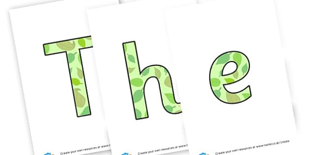 The enchanted woodland display lettering - Forest & Woodland Display Primary Resources, forest, woodland