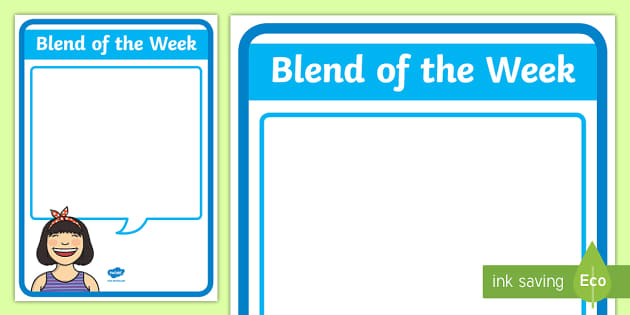 Blend of the Week Display Poster - New Zealand Class Management, display, blend, blend of the week