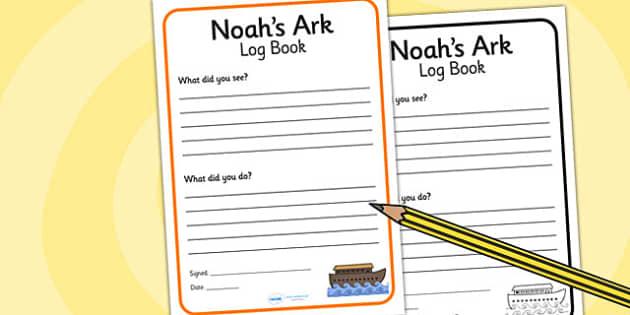Noah's Ark Role Play Look Out Ships Log Writing Frame - Noah's ark