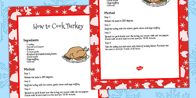 How to Cook a Turkey Recipe Card - guide, recipes, food, cooking